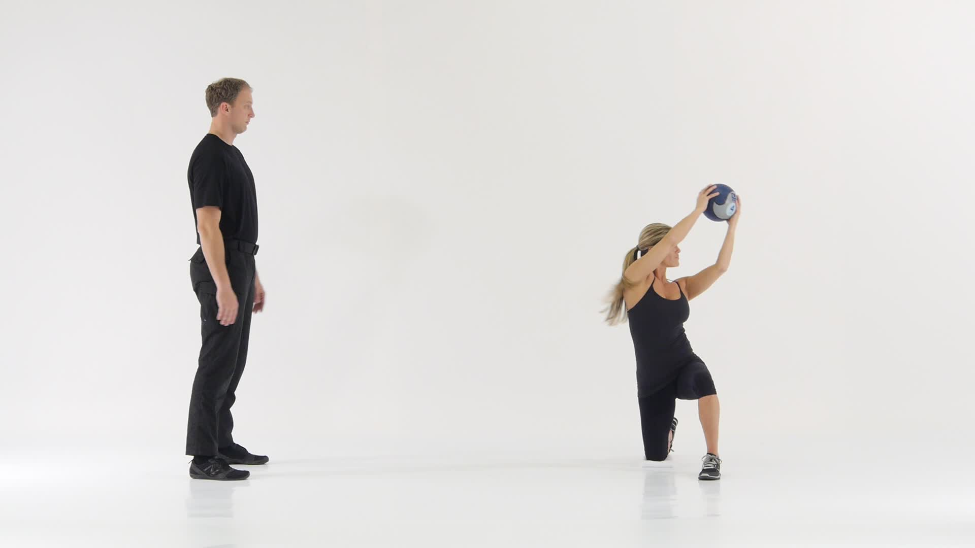 Half Kneeling Chop with Med Ball | Functional Movement Systems