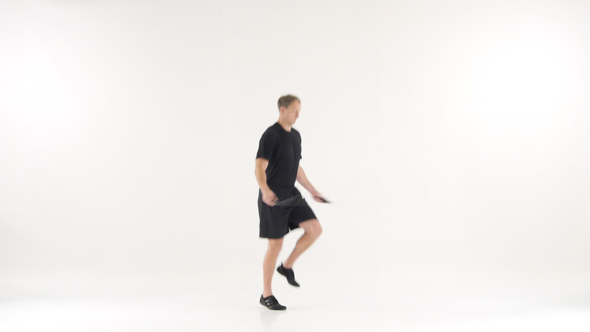 Alternate Foot Step With Jump Rope