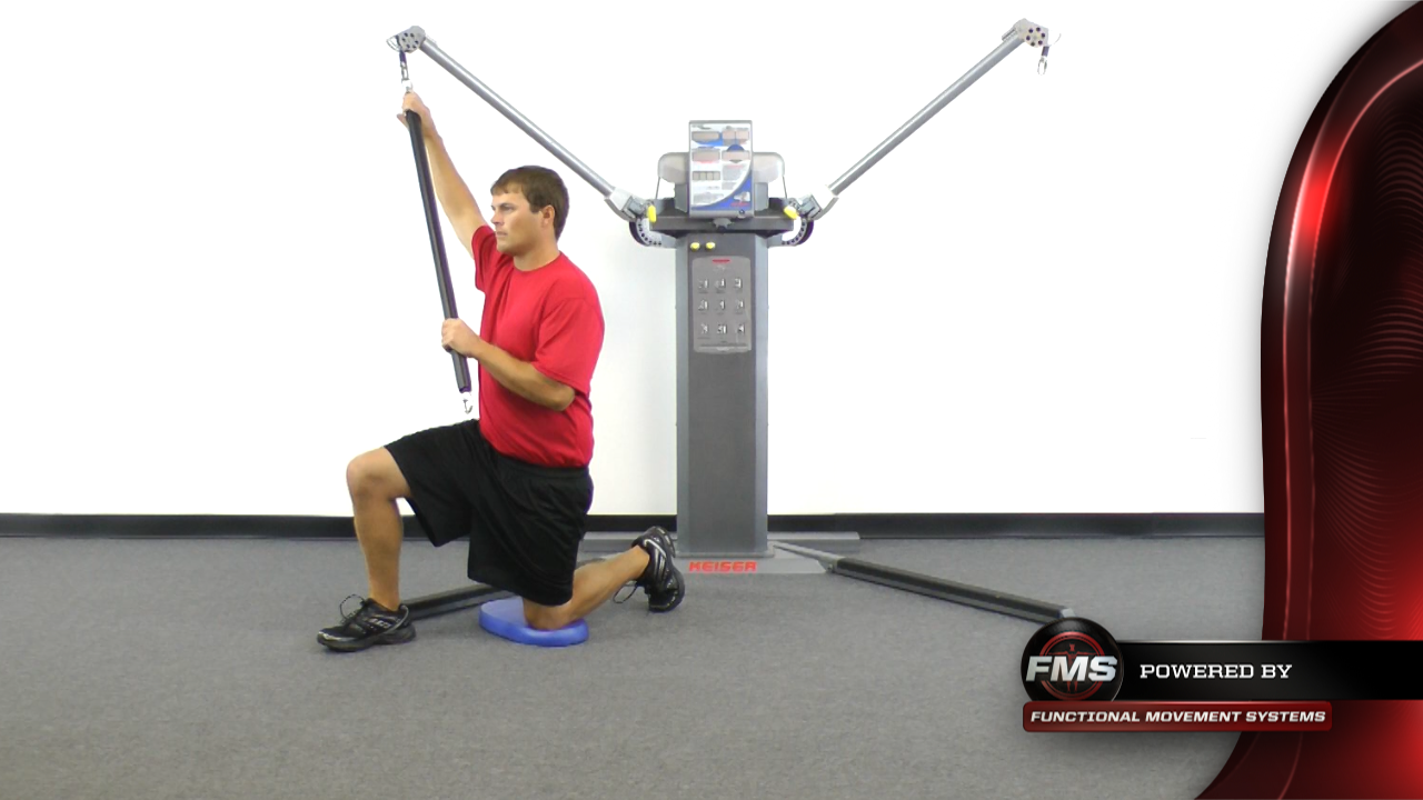 Chop from Half Kneeling with Cable Bar | Functional Movement